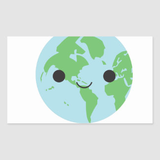 earth ai rectangular stickers