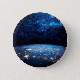 Earth and Galaxy 6 Cm Round Badge