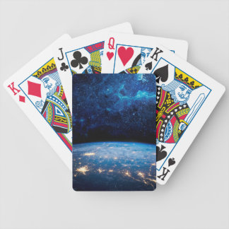 Earth and Galaxy Bicycle Playing Cards