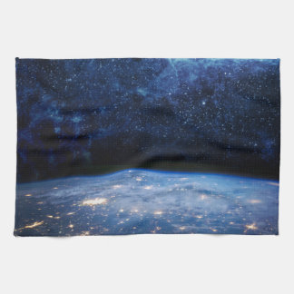 Earth and Galaxy Tea Towel