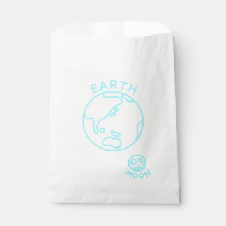 < Earth and month (color of the sea) > The earth Favour Bags