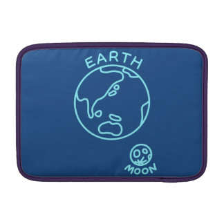 < Earth and month (color of the sea) > The earth Sleeves For MacBook Air