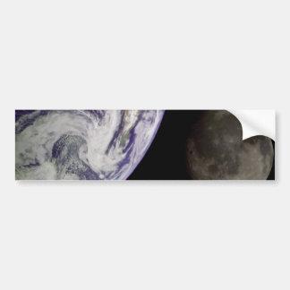Earth and Moon Bumper Sticker