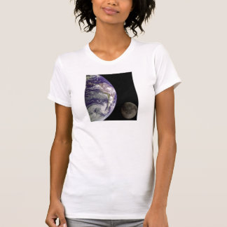 Earth and Moon by Galileo Ladies clothes T-Shirt