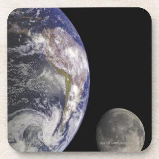 Earth and Moon Coasters
