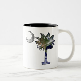 Earth and Moon Palmetto Two-Tone Coffee Mug