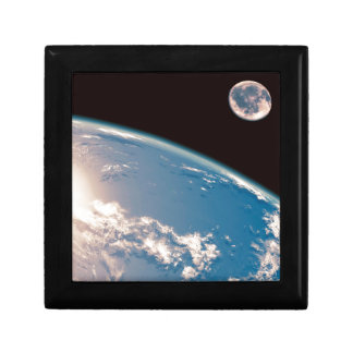Earth and Moon Small Square Gift Box