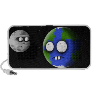 Earth and Moon Notebook Speakers