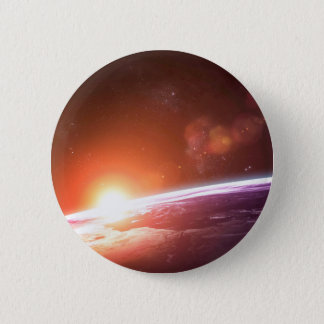 Earth and Rising Sun 6 Cm Round Badge