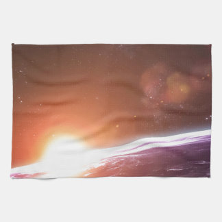 Earth and Rising Sun Hand Towels
