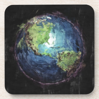 Earth And Space Beverage Coasters