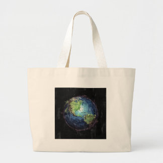 Earth And Space Large Tote Bag