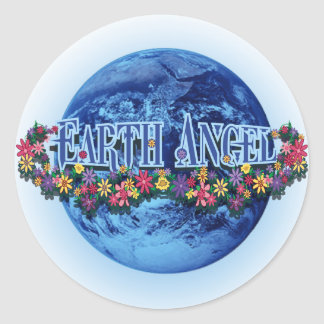 Earth Angel Classic Round Sticker