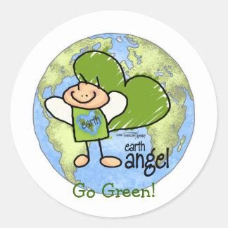 Earth Angel - Go Green Classic Round Sticker