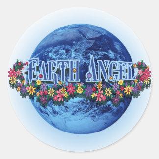 Earth Angel Round Sticker