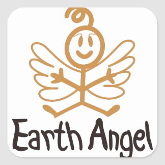 Earth Angel Square Sticker