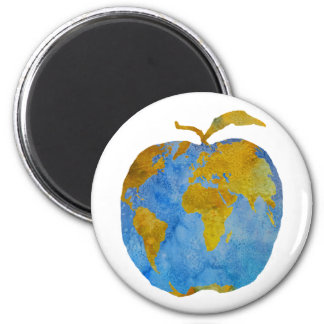 Earth Apple Magnet