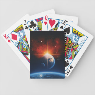 earth bicycle playing cards