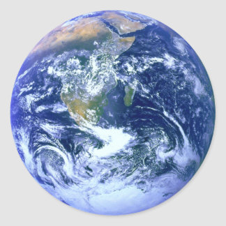 Earth Blue Marble Classic Round Sticker