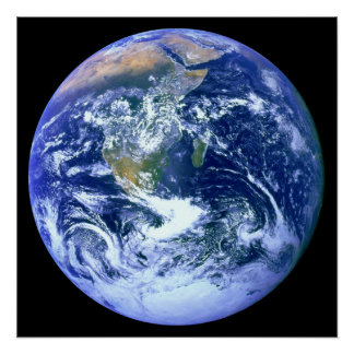 Earth Blue Marble Poster