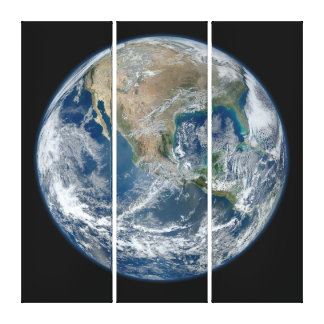 Earth blue marble Wrapped Canvas Canvas Prints