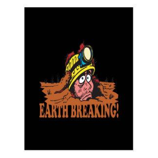 Earth Breaking Postcard