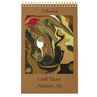 Earth Brown Abstract Art Calendars