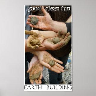 Earth Building Fun Poster