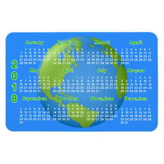 Earth Classic 2018 Calendar Magnet