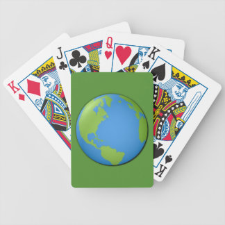 Earth Classic 3D Bicycle Playing Cards