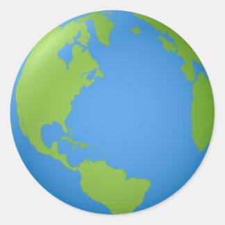 Earth Classic 3D Classic Round Sticker
