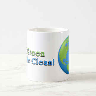 Earth Classic 3D Go Green, Breathe Clean! Coffee Mug