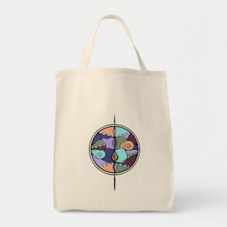 Earth Compass Nouveau Modern Tote Grocery Tote Bag