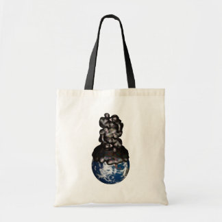 Earth cover by sticky petroleum canvas bags