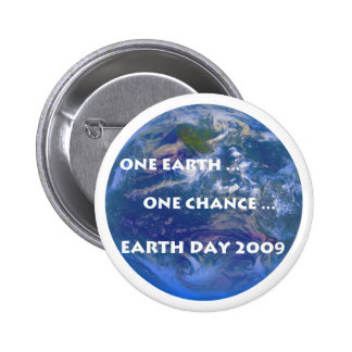 Earth Day 2009 Pinback Buttons