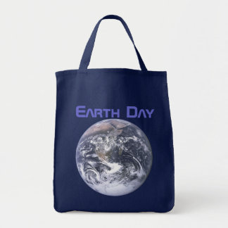 Earth Day 2012 - Earth in full view Grocery Tote Bag