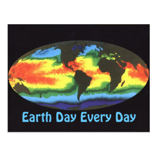 Earth Day 2012 - Global sea surface temperature Postcard