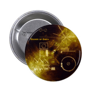 Earth Day 2012 - Sounds of Earth gold record Button