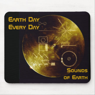 Earth Day 2012 - Sounds of Earth gold record Mouse Pad