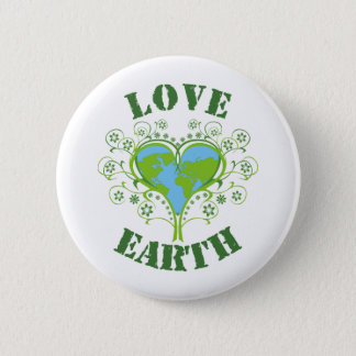 Earth Day 6 Cm Round Badge