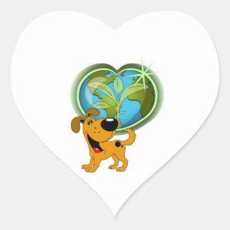 Earth Day and Pumpkin Heart Sticker
