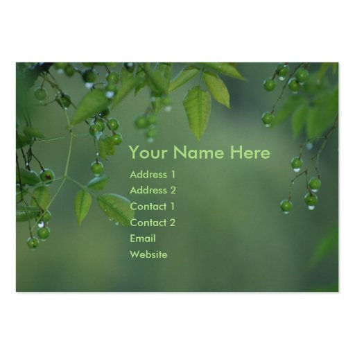 Earth day and think green business card template