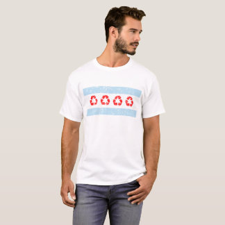 Earth Day April 22 Recycle Chicago Flag T-Shirt