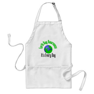 Earth Day Awareness Every Day Adult Apron