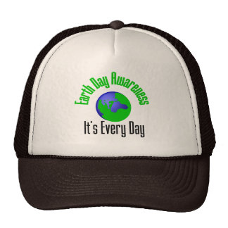 Earth Day Awareness Every Day Mesh Hats
