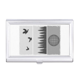 Earth Day Black And White Business Card Holder