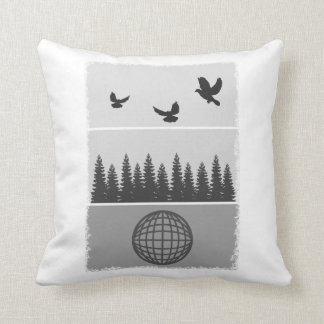 Earth Day Black And White Cushion
