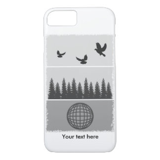 Earth Day Black And White iPhone 8/7 Case