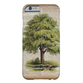earth day botanical art vintage oak tree barely there iPhone 6 case