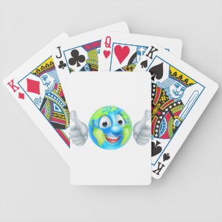 Earth Day Cartoon Character Bicycle Playing Cards